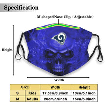 Load image into Gallery viewer, 3D Skull Rams Anti-infective Polyester Face Mask With Filter-Heroinhere