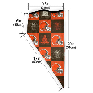 Browns Team Ugly Christmas Obacle Seamless Bandana Rave Face Mask-Heroinhere