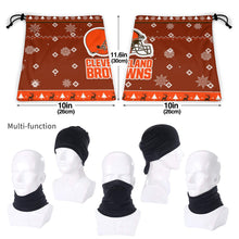 Load image into Gallery viewer, Browns Team Christmas Ugly Seamless Face Mask Bandanas-Heroinhere