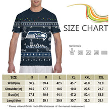 Load image into Gallery viewer, Seahawks Team Christmas Ugly T Shirts For Men-Heroinhere