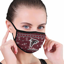 Load image into Gallery viewer, Falcons Team Christmas Ugly Anti-infective Polyester Face Mask-Heroinhere