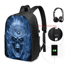 Load image into Gallery viewer, 3D Skull Titans Travel Laptop Backpack USB Backpack 17 IN-Heroinhere