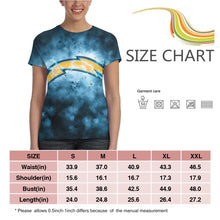 Load image into Gallery viewer, Chargers Illustration Art T Shirts For Women-Heroinhere