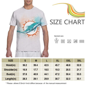 Dolphins Logo T Shirts For Men-Heroinhere