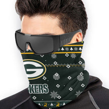 Load image into Gallery viewer, Packers Team Christmas Ugly Seamless Face Mask Bandanas-Heroinhere