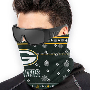 Packers Team Christmas Ugly Seamless Face Mask Bandanas-Heroinhere