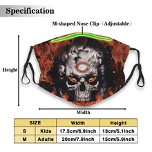 Load image into Gallery viewer, 3D Skull Bears Anti-infective Polyester Face Mask With Filter-Heroinhere