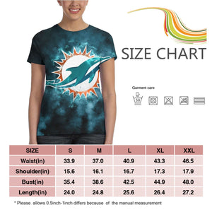 Dolphins Illustration Art T Shirts For Women-Heroinhere
