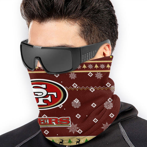 49ers Team Christmas Ugly Seamless Face Mask Bandanas-Heroinhere
