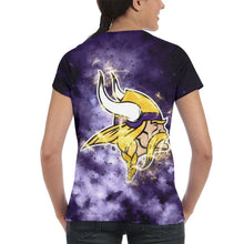 Load image into Gallery viewer, Vikings Illustration Art T Shirts For Women-Heroinhere