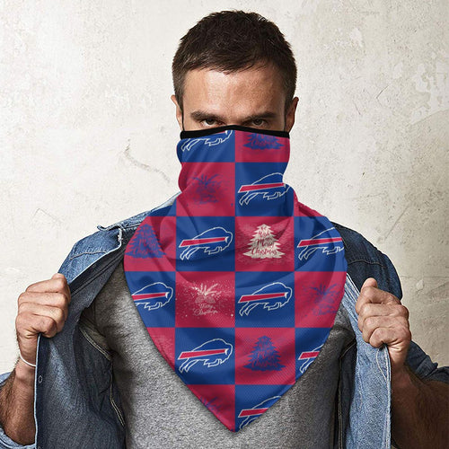Bills Team Ugly Christmas Obacle Seamless Bandana Rave Face Mask-Heroinhere