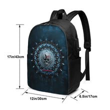 Load image into Gallery viewer, 3D Skull American Football Team Texans Travel Laptop Backpack USB Backpack 17 IN-Heroinhere