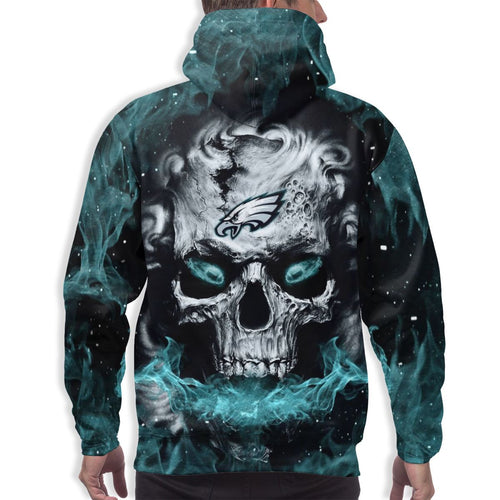 QIANOU66 3D Skull Eagles Hoodies For Men Pullover Sweatshirt-Heroinhere