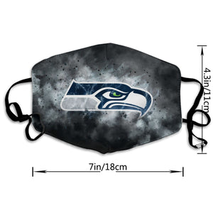 Seahawks Illustration Art Anti-infective Polyester Face Mask-Heroinhere