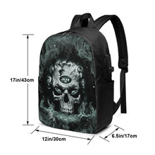 Load image into Gallery viewer, 3D Skull Jets Travel Laptop Backpack USB Backpack 17 IN-Heroinhere
