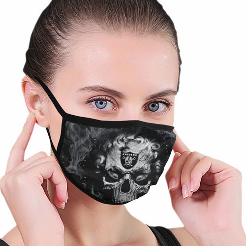 QIANOU66 3D Skull Raiders Anti-infective Polyester Face Mask-Heroinhere