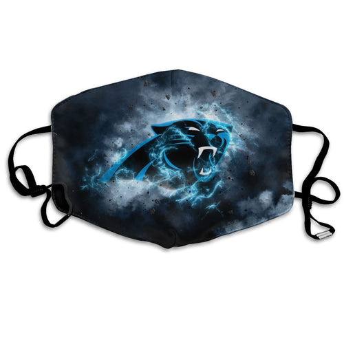 Panthers Illustration Art Anti-infective Polyester Face Mask-Heroinhere