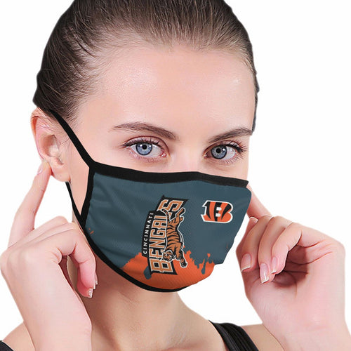 Bengals Team Anti-infective Polyester Face Mask-Heroinhere