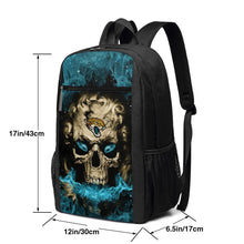 Load image into Gallery viewer, 3D Skull Jaguars Travel Laptop Backpack 17 IN-Heroinhere