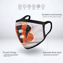 Load image into Gallery viewer, Bengals Logo Anti-infective Polyester Face Mask-Heroinhere