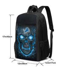 Load image into Gallery viewer, Lions 3D Skull Lava Travel Laptop Backpack 17 IN-Heroinhere