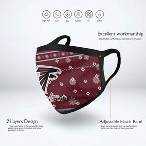 Falcons Team Christmas Ugly Anti-infective Polyester Face Mask-Heroinhere