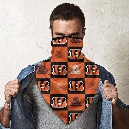 Bengals Team Ugly Christmas Obacle Seamless Bandana Rave Face Mask-Heroinhere