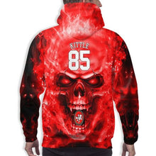Load image into Gallery viewer, 3D Skull 49ers #85 George Kittle Hoodies For Men Pullover Sweatshirt-Heroinhere