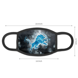 Lions Illustration Art Anti-infective Polyester Face Mask-Heroinhere