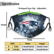 Load image into Gallery viewer, Patriots Illustration Art Anti-infective Polyester Face Mask With Filter-Heroinhere