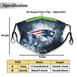 Patriots Illustration Art Anti-infective Polyester Face Mask With Filter-Heroinhere