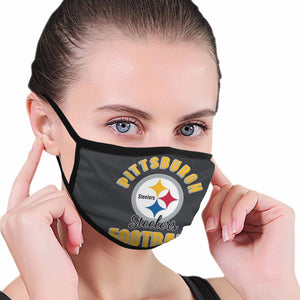 Steelers Football Team Anti-infective Polyester Face Mask-Heroinhere