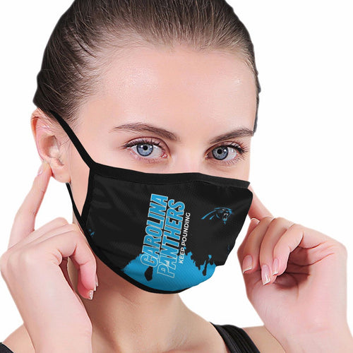 Panthers Team Anti-infective Polyester Face Mask-Heroinhere