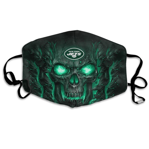 QIANOU66 Skull Lava Jets Anti-infective Polyester Face Mask-Heroinhere