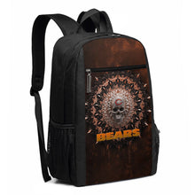Load image into Gallery viewer, 3D Skull American Football Team Bears Travel Laptop Backpack 17 IN-Heroinhere