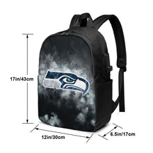 Load image into Gallery viewer, Seahawks Illustration Art Travel Laptop Backpack USB Backpack 17 IN-Heroinhere