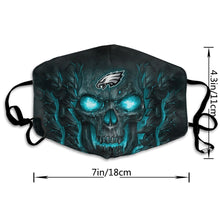 Load image into Gallery viewer, QIANOU66 Skull Lava Eagles Anti-infective Polyester Face Mask-Heroinhere