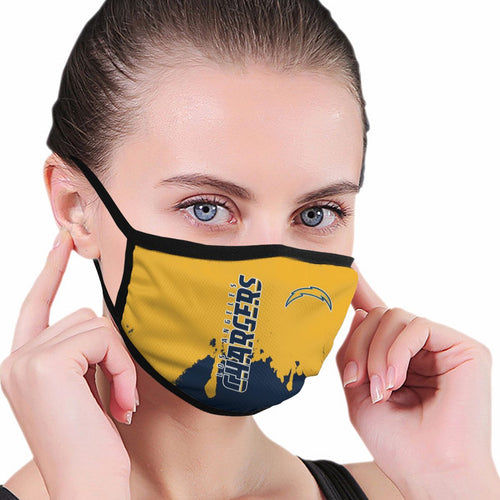 Chargers Team Anti-infective Polyester Face Mask-Heroinhere
