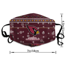 Load image into Gallery viewer, Cardinals Team Christmas Ugly Anti-infective Polyester Face Mask-Heroinhere