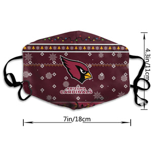 Cardinals Team Christmas Ugly Anti-infective Polyester Face Mask-Heroinhere
