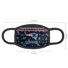 Load image into Gallery viewer, Patriots Team Christmas Ugly Anti-infective Polyester Face Mask-Heroinhere