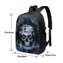 Load image into Gallery viewer, 3D Skull Seahawks Travel Laptop Backpack USB Backpack 17 IN-Heroinhere