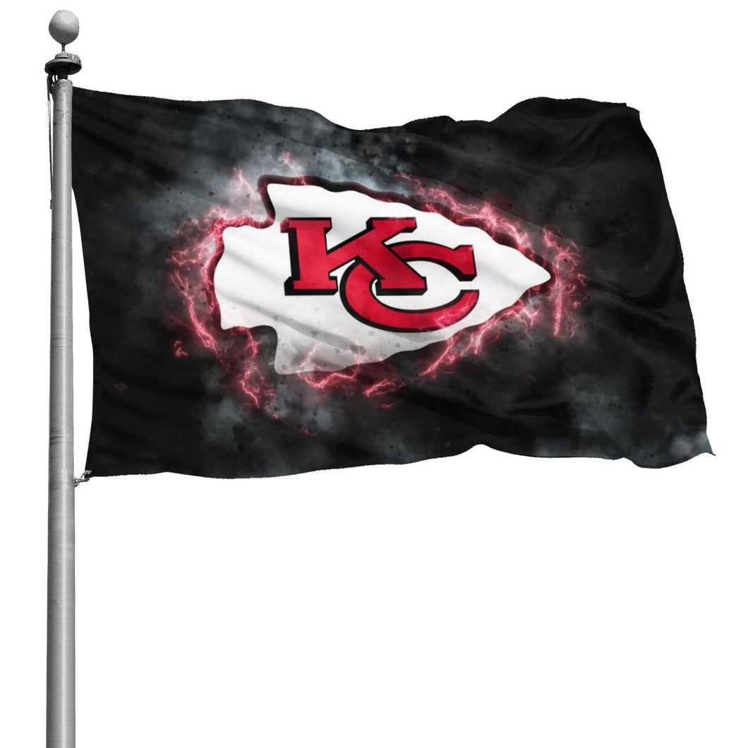 Chiefs Illustration Art Flag 4*6 ft-Heroinhere