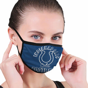 Colts Football Team Anti-infective Polyester Face Mask-Heroinhere