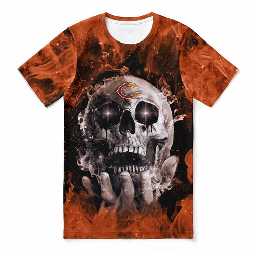 Bears With Fire Skull T-shirts For Women-Heroinhere