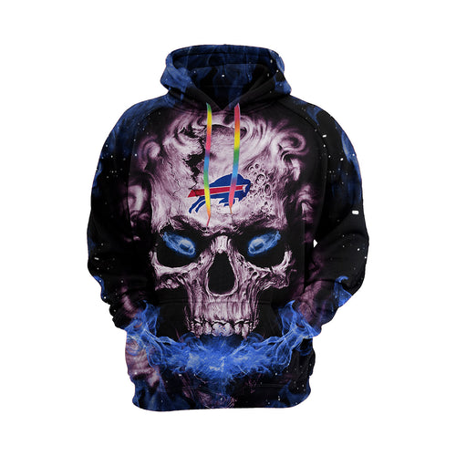 QIANOU66 3D Skull Bills Hoodies For Men Pullover Sweatshirt-Heroinhere