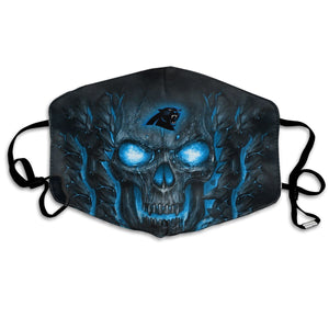 QIANOU66 Skull Lava Panthers Anti-infective Polyester Face Mask-Heroinhere