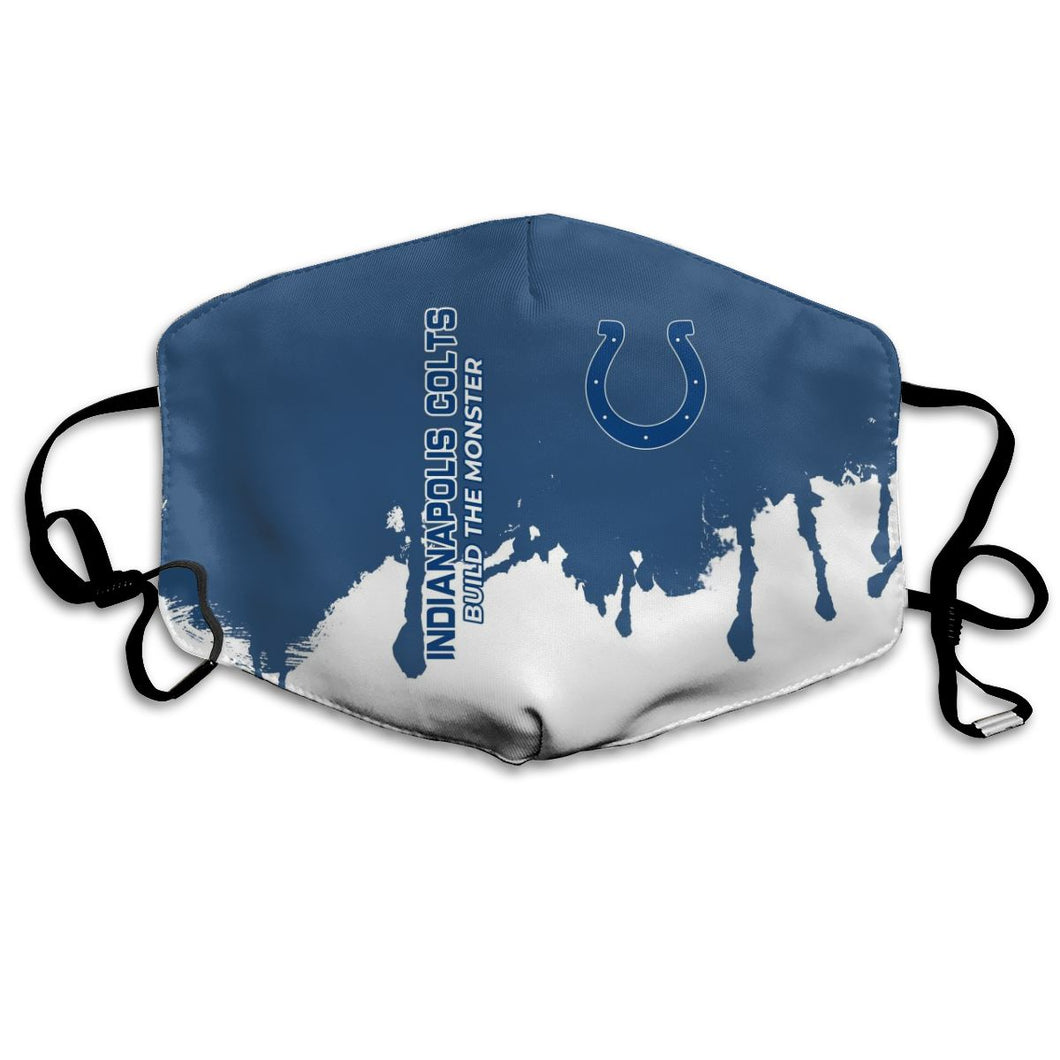 Colts Team Anti-infective Polyester Face Mask-Heroinhere