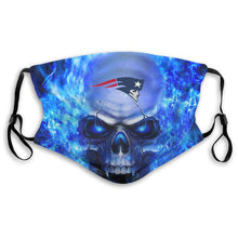 Load image into Gallery viewer, 3D Skull Patriots Anti-infective Polyester Face Mask With Filter-Heroinhere
