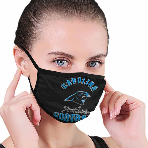 Panthers Football Team Anti-infective Polyester Face Mask-Heroinhere